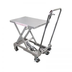 BSA10 Aluminio / mesa elevadora manual de tijera de acero inoxidable