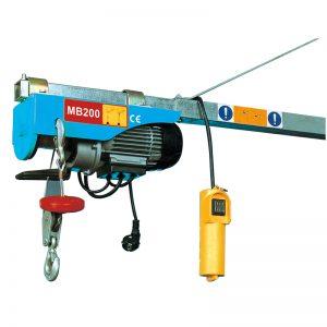 Mini polipasto eléctrico MB200, polipasto eléctrico de palanca