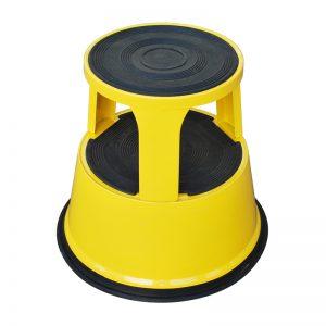 Taburete con peldaños con ruedas de plástico RSS2P-40